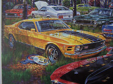 New listing Ford Mustang Mach 1 Art 1969 1970 1971 428 Cobra Jet Shaker Hood 351 Cleveland