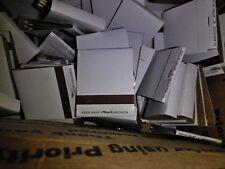 50 plain white Matches matchbooks wedding, 20 strike