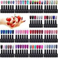 GEL LAB UK STOCK 6 Colors Set Gel Polish Need Base Top Coat Varnish Lacquer