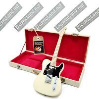 Mini Guitar jeff buckley + hard case box scale 1:4 miniature gadget collectible