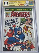True Believers Avengers #1 Reprint of Avengers #4 Signed by Stan Lee CGC 9.8 SS