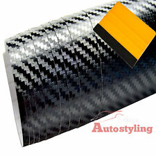 1.5m x 2m 3D SATIN BLACK Carbon Fibre Vinyl Wrap Matte Bonnet Roof Car +SQUEEGEE