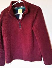Women Aeropostale Prince & Fox Pullover Fleece 1/4 Zip Rose Sz M/M NWT $54.50