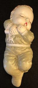 Vintage Irwin Rubber Sleeping Baby Doll -Squeak Toy - Thumb Sucking 1950s