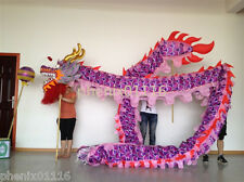 14m 8 person purple DRAGON DANCE ORIGINAL Dragon Chinese Folk Festival Costume
