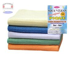 5er Set Aqua Clean Pique Mikrofaser Geschirrtücher