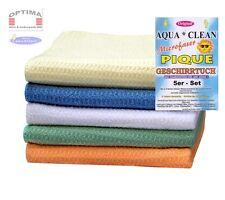 5er Set Aqua Clean Pique Mikrofaser Geschirrtücher