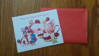 Vintage Strawberry Shortcake Blank Note Friend Card Thinking of You 1981