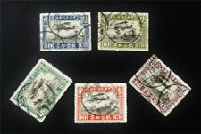 nystamps China Air Mail Stamp # C6-C10 Used $48