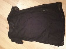 Black Lace Tunic Lined Size 10