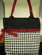 Purse handbag black white & red monogrammable 11 1/2 X 12in NWT  free shipping