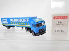 """eso-3093Wiking 1:87 MAN Koffer-Satelzug """"Kerkhoff"""" mit minimale Gebrauchsspuren"""