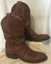 "TONY LAMA US Mens 7 Narrow 11"" Brown Western Cowboy Boots Oil Resistant"