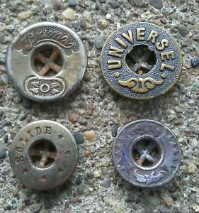 Antique Universel, Solide, Primo, and Dragon Shirt Buttons.