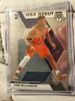 2019-20 Mosaic Zion Williamson Rc Rookie NBA Debut Pelicans Card Sp