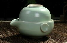 China Ru Kiln Ceramic Kung Fu Tea Set  Travel A Teapot And Teacup