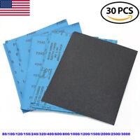 72Pcs//Set Wet Dry Sandpaper 120-3000 Grit Assortment Abrasive Sanding Paper