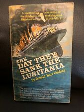 The Day They Sank Lusitania Donald Barr Chidsey 1967 Award Books PB 1st Edition