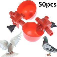 50pcs AUTOMATIC WATER DRINKER CUPS CHICKEN COOP POULTRY CHOOK BIRD TURKEY DRINK