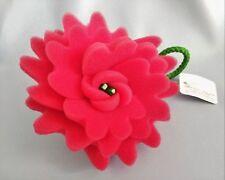 Bath & Body Works Red Rose Bud Flower Foam Shower Sponge Loofah Pouf Soft Strap