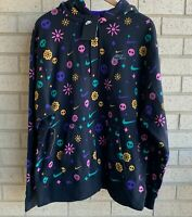 Nike NSW Day Of The Dead Club Black Skulls Pullover Hoodie CU3516-010 - Size XL