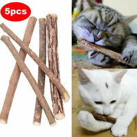 5PCS Pet Toys Catnip Teeth Molar Cleaning Matatabi Chew Cat L0W0 Stic Silve L0Z1