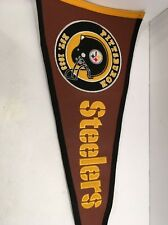 "Winning Streak Pittsburgh Steelers Wool & Acrylic Felt 32"" Pennant"