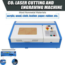 12x8 40w Usb Co2 Laser Engraving Cutting Machine Engraver Cutter With 4 Wheels