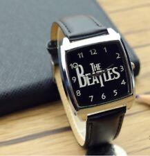 Reloj de Pulsera Beatles C TXT Reloj de Pulsera Correa de Cuero Negro Música Rock Niños Adultos
