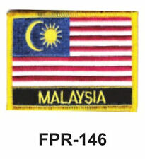 "2-1/2'' X 3-1/2"" MALAYSIA Flag Embroidered Patch"