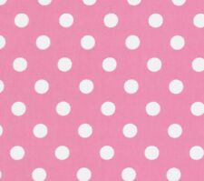 Lakehouse Pam Kitty Big Dot White Polka Dots on Pink Cotton Fabric - FQ