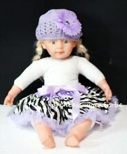 NewBorn Light Purple Zebra Baby Pettiskirt Tutu 3-12M