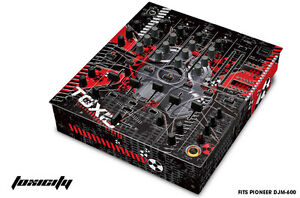 Skin Decal Wrap for PIONEER DJM-600 DJ Mixer CD Pro Audio DJM600 Parts - TOXIC