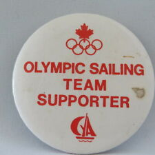 1984 Summer Olympic Games - Team Canada Olympic Sailing Suppetor Button - Rare !