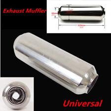 "Chrome 63mm/2.5"" Car Auto Middle Silencer Tornado Muffler 310mm Steel Pipe Tips"