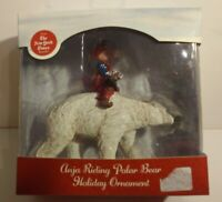 Silvestri The Christmas Wish Anja Riding Polar Bear Holiday Ornament 2015