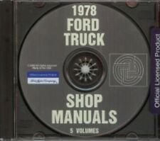 FORD 1978 Bronco, Bus, Van, F100-F350 Pick Up & Heavy Duty Truck Shop Manual CD