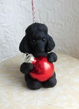 Poodle Christmas Ornament Sculpted Dog Collectible gift Furever Clay