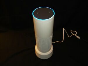 Amazon Echo Plus Smart Assistant - White With Smatree Battery Base & Power Cords