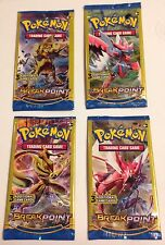 Pokemon Factory Sealed Set Of 4 XY Break Point Dollar Tree Booster Packs