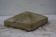 """Pair of Reconstituted Stone Pillar Caps (20 1/2"""" x 20 1/2"""")"""