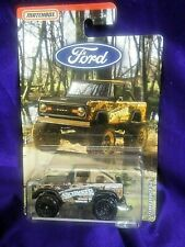 Matchbox '72 Ford Bronco 4x4 Camouflage Diecast 1:64 Scale Ford Skyjacker Series