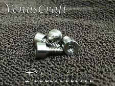 (4) Titanium Locking Nut String Clamp Ti Screws for 7 string Floyd Rose & Ibanez