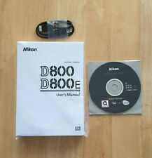 NIKON D800 MANUAL AND DISC'S PLUS USB LEAD.NEW