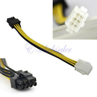 4PCS PCI-Express 6 Pin Male to 8 Pin Female Video Card Extension Power Cable YG