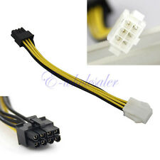14cm PCI-Express 6 Pin Male to 8 Pin Female Video Card Extension Power Cable YG