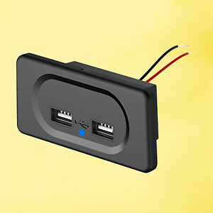 2 Port Dual USB Charger Socket Quick Charge for Truck ATV Boat Car RV Bus