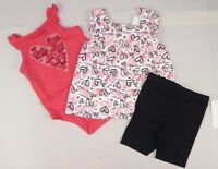 Calvin Klein Baby Girls' Printed Top, Bodysuit & Short Set - 3/6,12,18,24 months