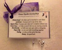 Thank you Christmas gift for Dance Teacher gift Survival Kit gift for her him
