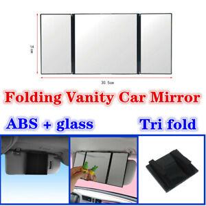 Universal Car Interior Folding Vanity Mirror Sun Visor Mount Decorative Mirror